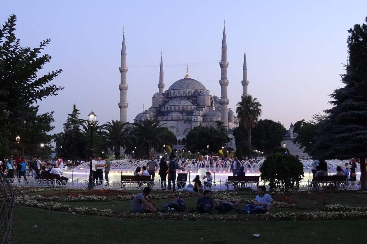 Abendstimmung am Sultanahmet-Platz