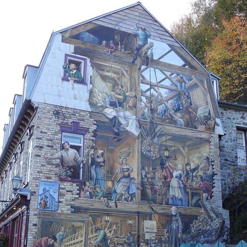 Fresko in der Unterstadt, Québec