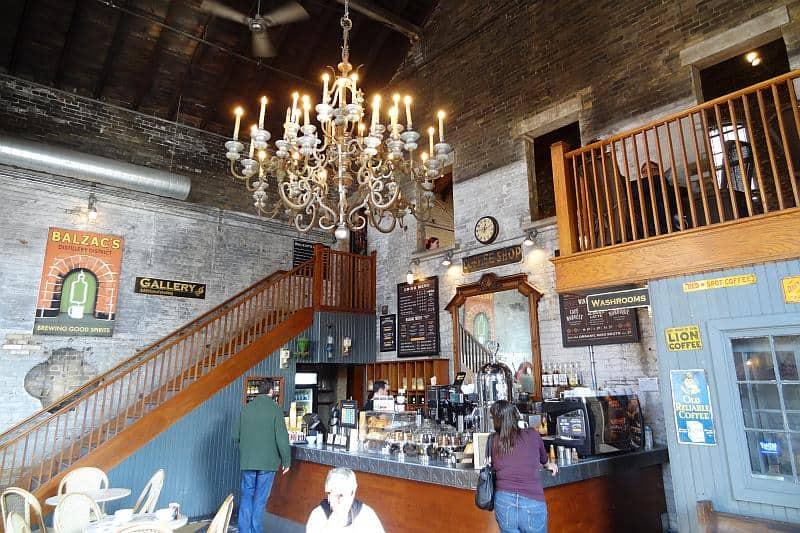 Kaffeehaus im Distillery District, Toronto