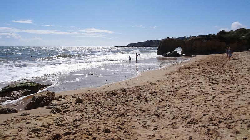 Strand von Albufeira, Westliche Algarve