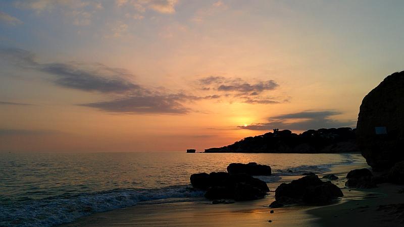 Sonnenuntergang in Albufeira, Westliche Algarve