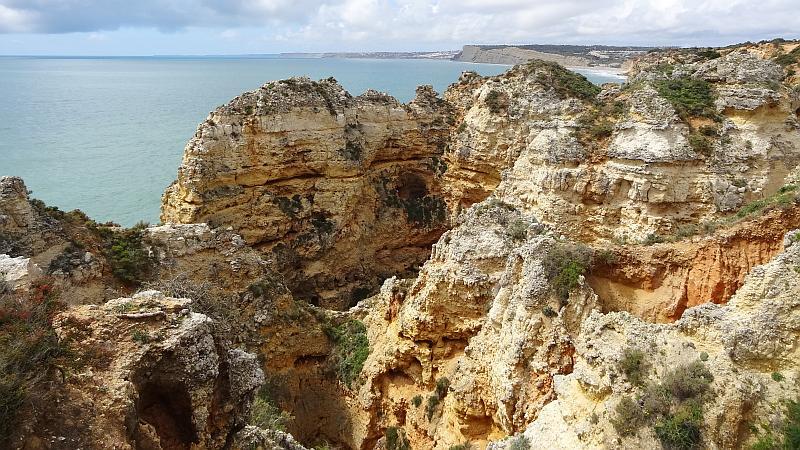 Zerklüftete Felsen an der Ponta da Piedade, Westliche Algarve