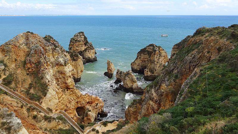Aussicht an der Ponta da Piedade, Westliche Algarve