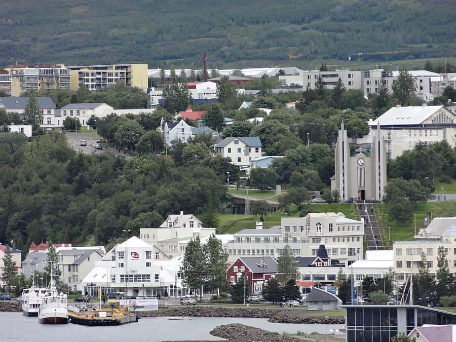 Akureyri - Hafenausfahrt