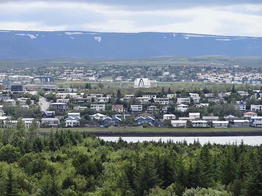 Reykjavik - Aussicht von Perlan