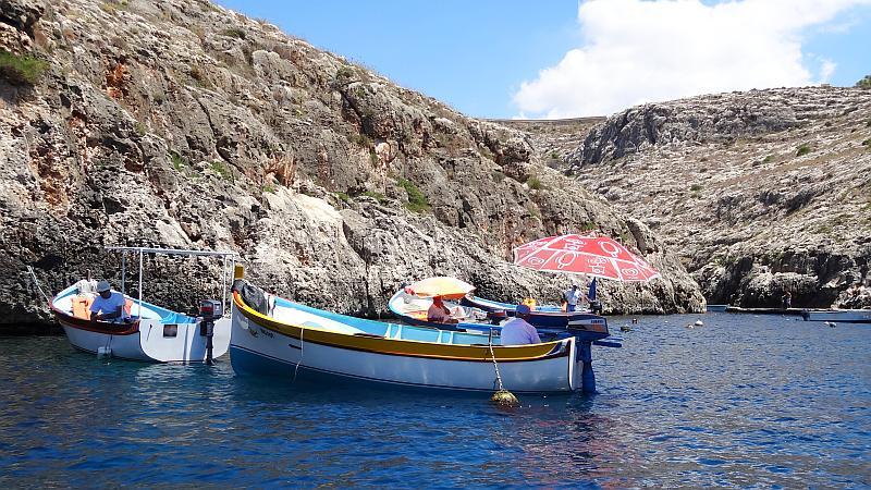 Touristenboote Blaue Grotte, Malta