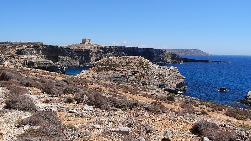 Landschaft auf Comino, Malta