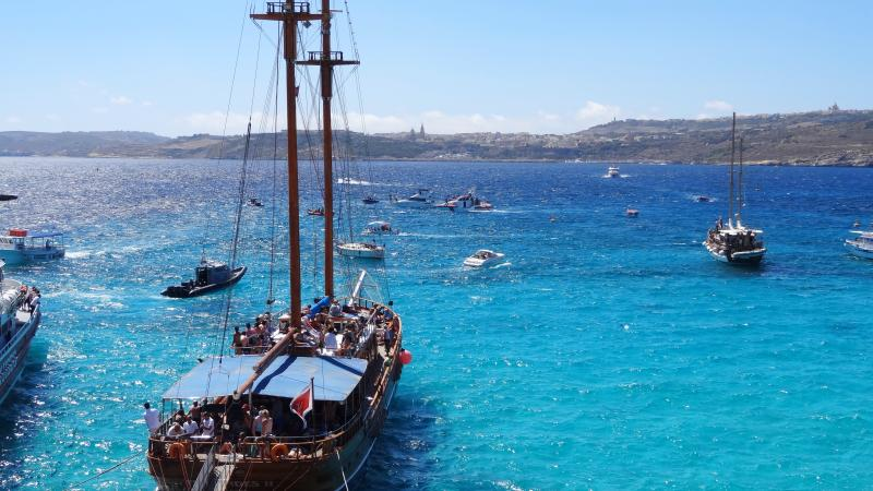 Bootsverkehr auf Comino, Malta