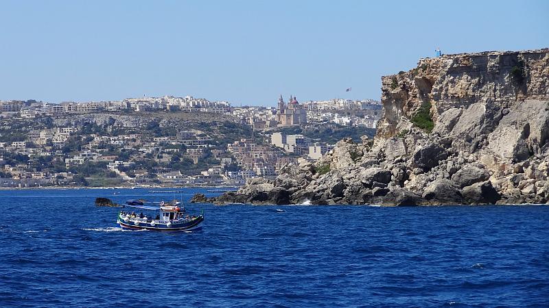Hafenanfahrt in Gozo, Malta