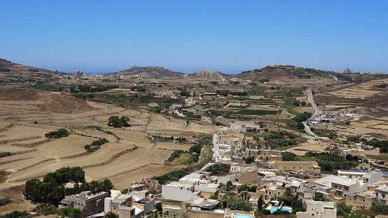 Blick von der Festung in Victoria, Gozo, Malta