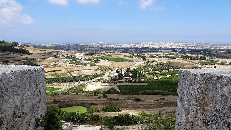 Blick nach Valletta von Mdina, Malta