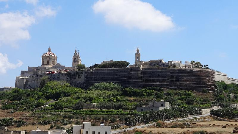 Mdina von unten, Malta