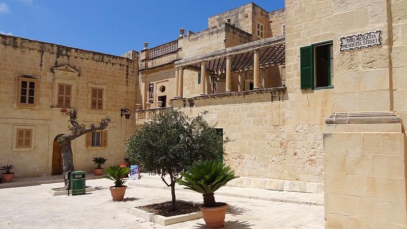 Mesquita-Platz in Mdina, Malta