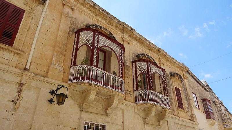 Balkone in Mdina, Malta