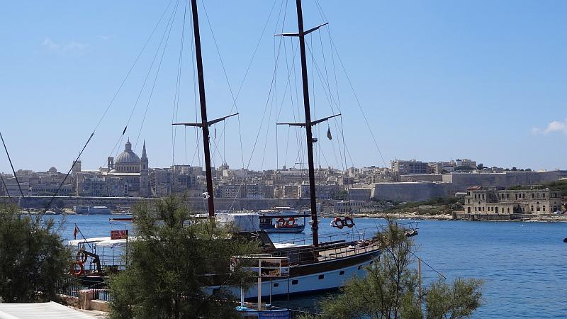 Hafenpanorama in Sliema, Malta