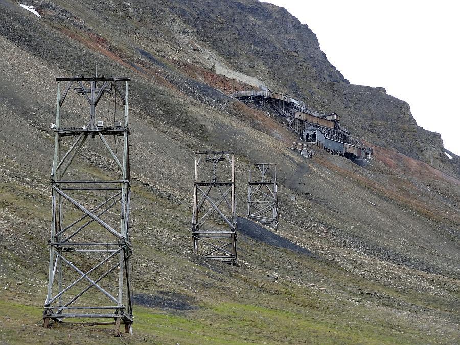 Spitzbergen - Alte Kohlemine