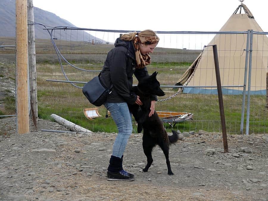 Spitzbergen - Jessi mit Husky