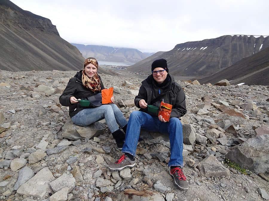 Spitzbergen - Longyeargletscher, Mittagessen