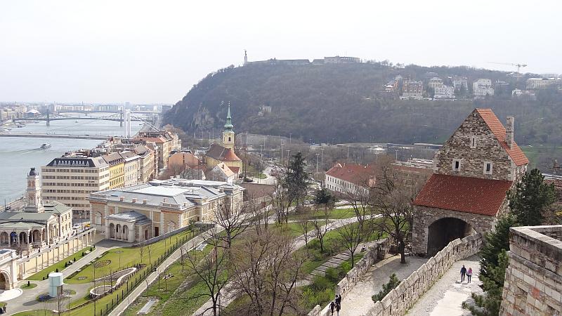 Blick vom Burgberg in Budapest