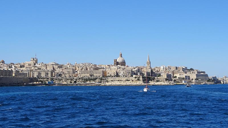 Die Skyline von La Valletta auf Malta