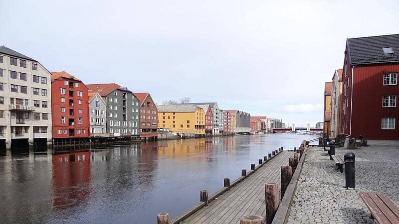 Der Nidelva-Fluss in Trondheim