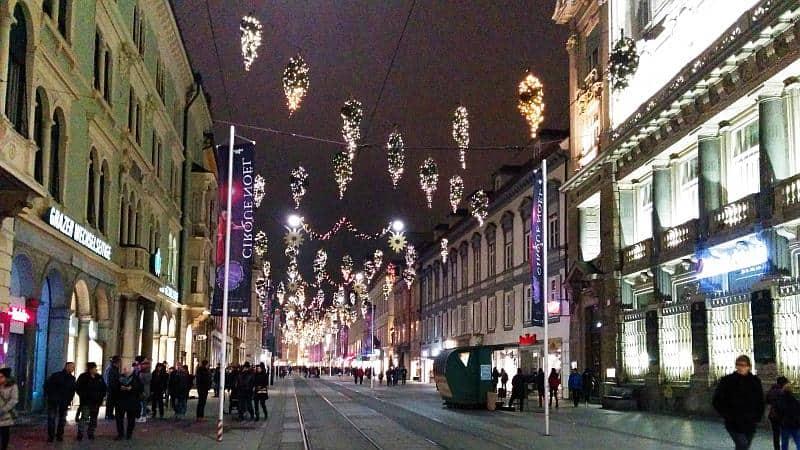Weihnachtsdekoration in Graz