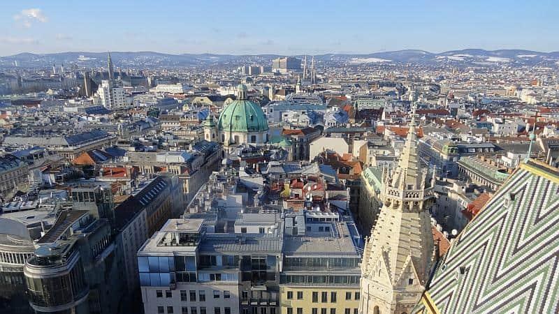 Blick vom Stephansdom in Wien