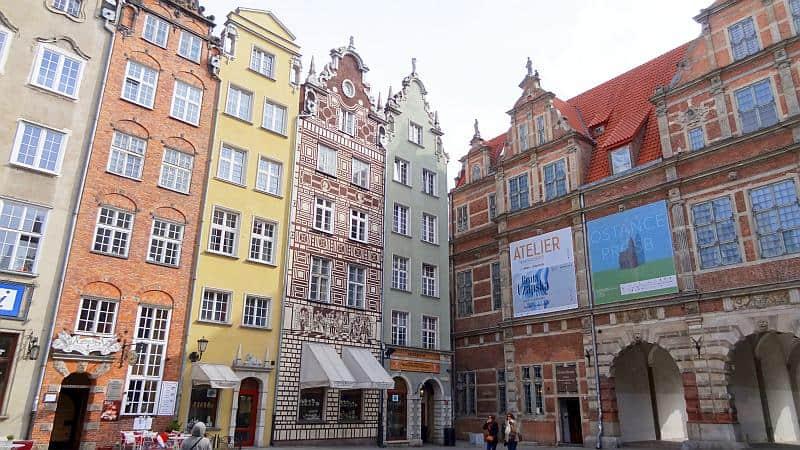 Grünes Tor und Hansehäuser