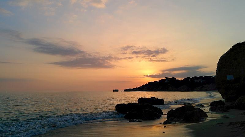 Sonnenuntergang an der Algarve