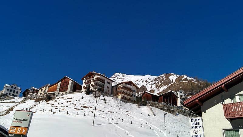 Samnaun in der Schweiz