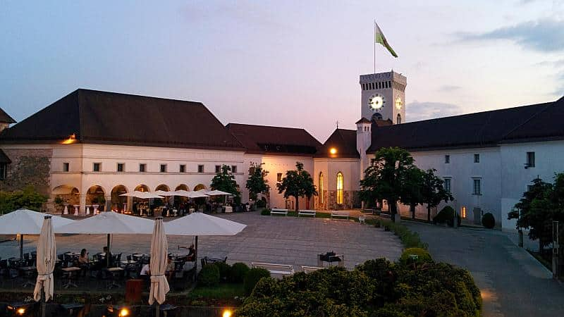 Die Burg in Ljubljana