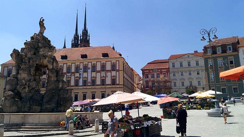 Der Hauptplatz von Brno