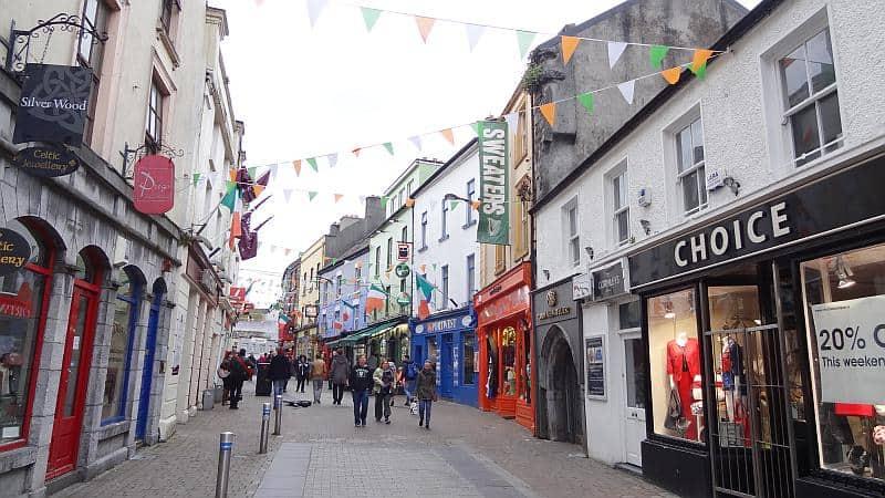 Die Innenstadt von Galway