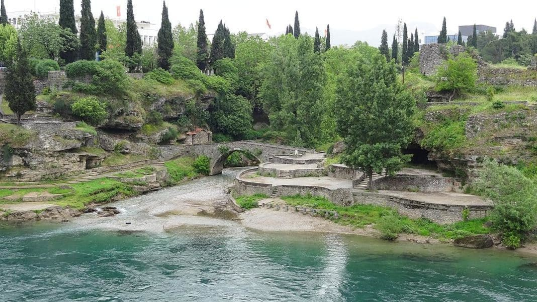 Blick auf die Festung in Podgorica