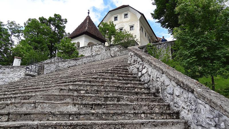 Stufen auf der Bleder Insel