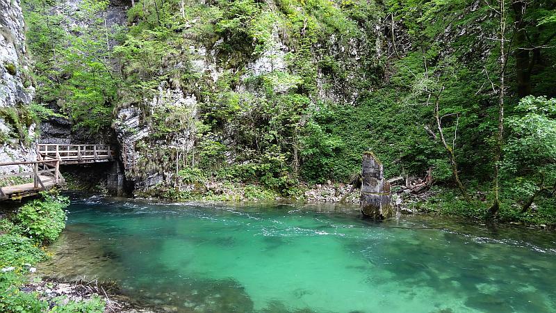 Becken in der Vintgar-Klamm