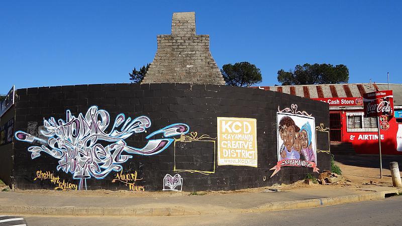 Straßenkunst in Kayamandi