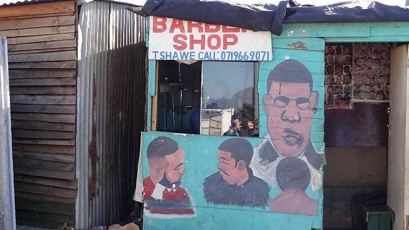 Friseursalon in Kayamandi