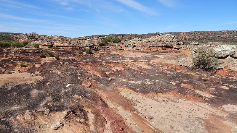 Trockenes Flussbett Western Cape