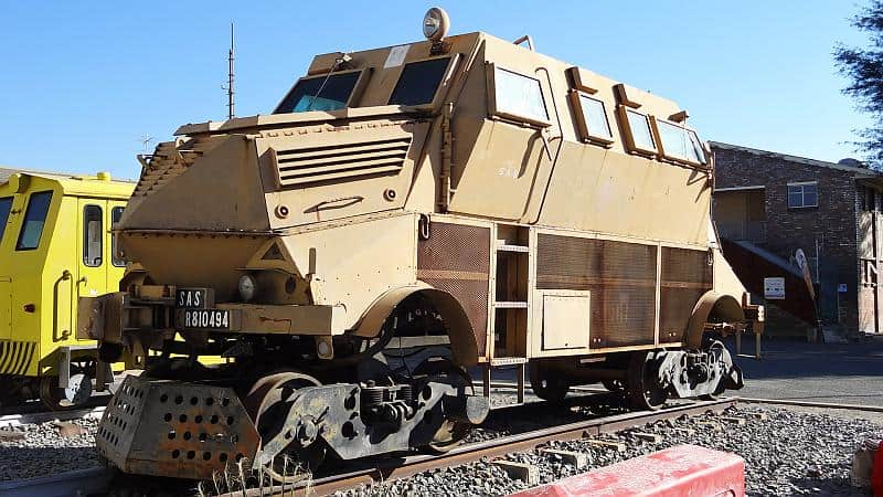 Panzerlok am Bahnhof Windhoek