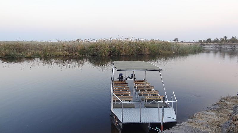 Boot im Bwabwata-Nationalpark