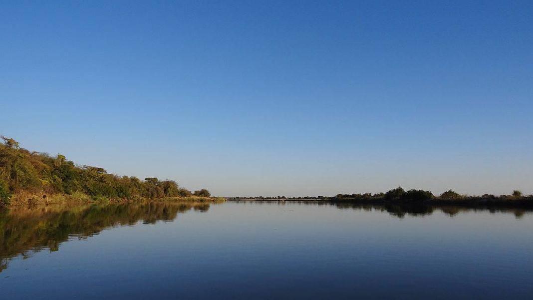 Blick auf den Okavango