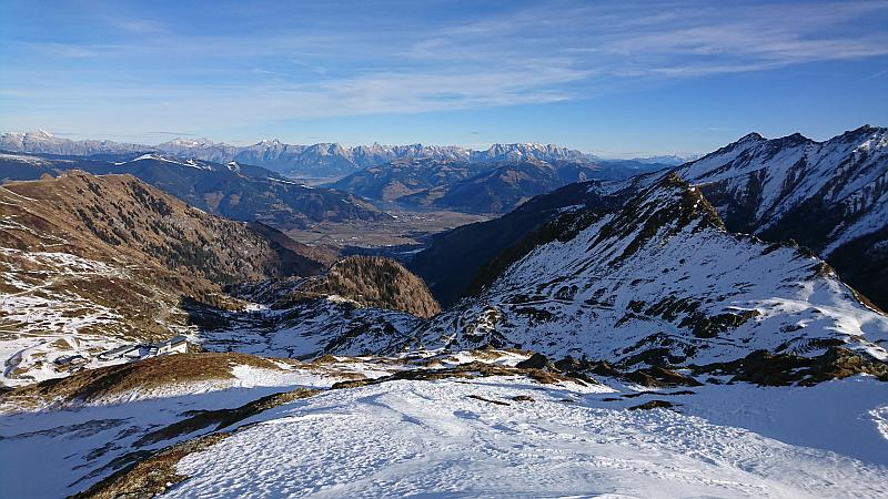 Verlängertes Wochenende in Zell am See - Aussicht vom Kitzsteinhorn auf den Zeller See