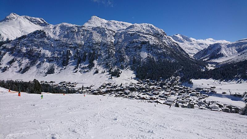 Blick auf Lech - Ski Arlberg