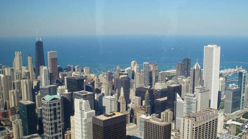 Michigansee vom Willis Tower in Chicago, Schöne Reiseziele