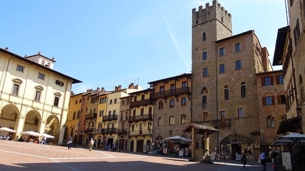 Piazza Grande Arezzo - Roadtrip Italien