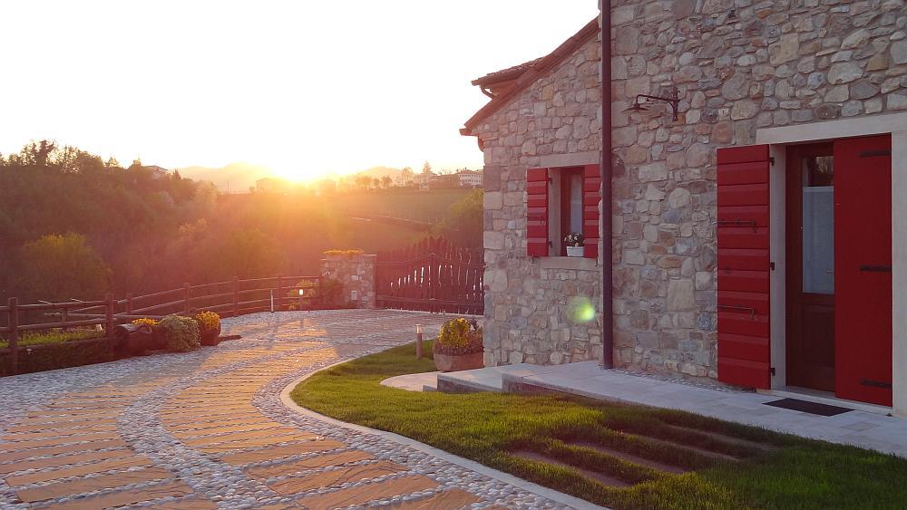 Sonnenuntergang Proseccoviertel - Roadtrip Italien