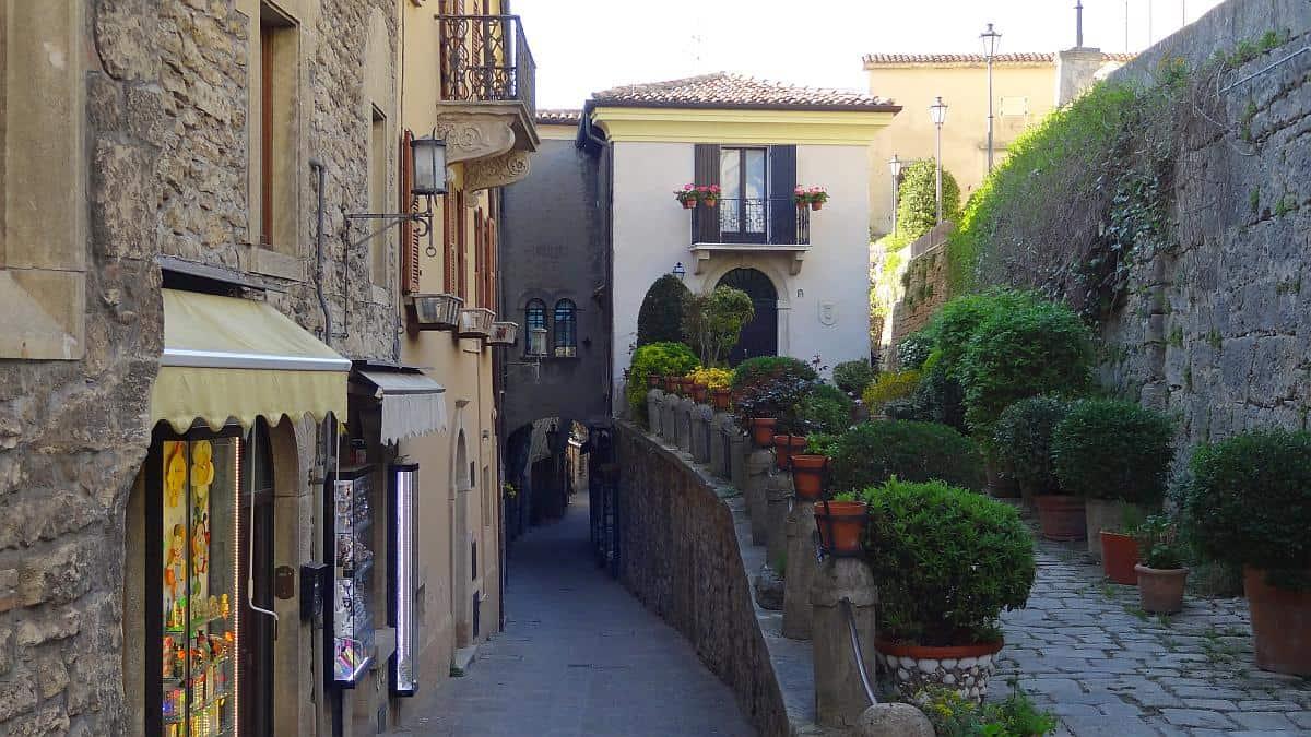 Mittelalterliche Gässchen in San Marino