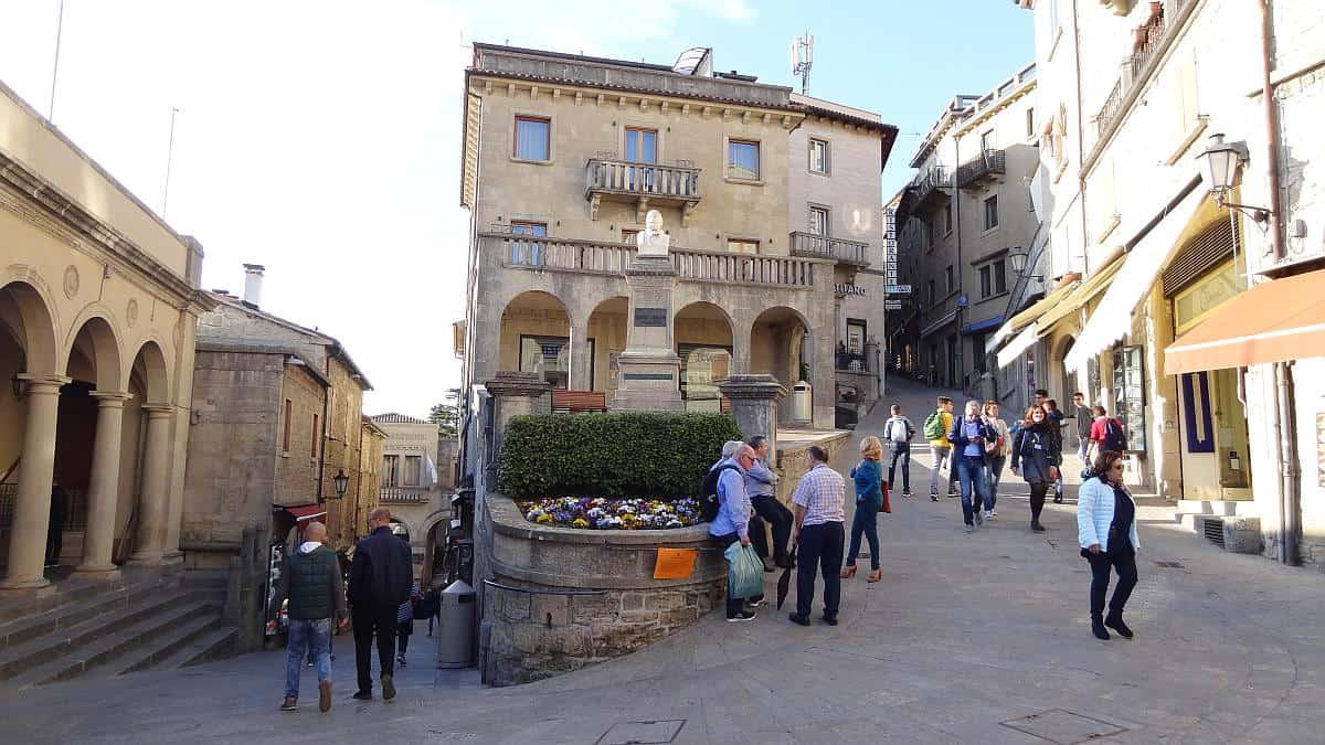 Mittelalterliche Gassen in San Marino