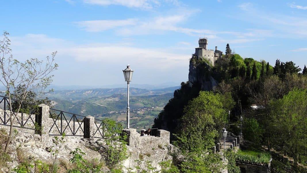 Aussicht auf die Cesta in San Marino